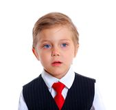 Portrait of upset schoolboy Stock Photos