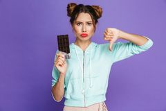 Portrait of an upset young girl stock images