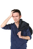 Portrait of upset young man Royalty Free Stock Images