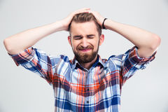 Portrait of upset young man Stock Photo