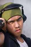 Portrait of urban rapper Stock Images