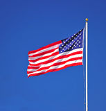 Portrait of US Flag Stock Images