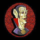 Vampire. Portrait of the vampire. Bizarre  person. Vector illustration Royalty Free Stock Photography