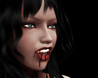 Portrait of vampire girl Royalty Free Stock Image