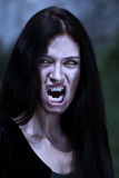 Portrait vampire at a moonlight Stock Image