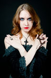 Portrait of vampire woman Royalty Free Stock Photography