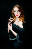 Portrait of vampire woman Royalty Free Stock Images