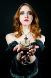 Portrait of vampire woman Royalty Free Stock Image