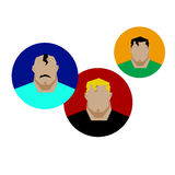 Portrait vector male face man head people illustration person si Royalty Free Stock Photos