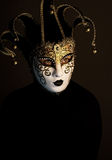 Portrait with Venice mask Royalty Free Stock Photography