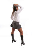 Portrait of a very Attractive schoolgirl Royalty Free Stock Photography