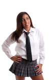 Portrait of a very Attractive schoolgirl Royalty Free Stock Images