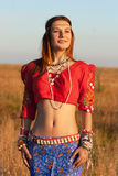 Portrait very beautiful Gipsy Stock Image