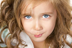 Portrait very beautiful girl Royalty Free Stock Image