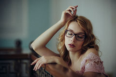 Portrait of a very beautiful girl Royalty Free Stock Photos