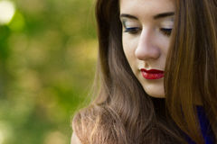 Portrait of very beautiful young brunette woman Stock Images