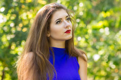 Portrait of very beautiful young brunette woman Stock Photo