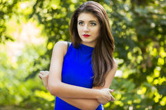 Portrait of very beautiful young brunette woman Royalty Free Stock Image