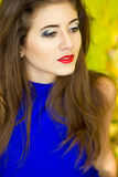 Portrait of very beautiful young brunette woman Royalty Free Stock Photography