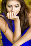 Portrait of very beautiful young brunette woman Royalty Free Stock Photos