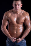 Portrait of a very handsome muscular man Stock Photography