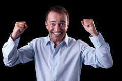 Portrait of a very happy  businessman Royalty Free Stock Images