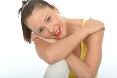 Portrait of a Very Happy Relaxed Contented Attractive Young Woman Royalty Free Stock Photos
