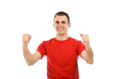 Portrait of a very happy young man Royalty Free Stock Photos