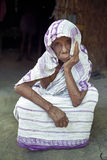 Portrait of very old woman, Bangladesh Stock Photography