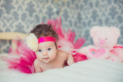 Portrait of very sweet little baby girl Royalty Free Stock Photo