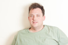 Portrait of a very tired man in his 30s Royalty Free Stock Photography
