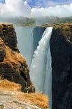 Portrait of Victoria Falls Mosi-oa-tunya, Zimbabwe Royalty Free Stock Photo