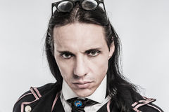 Portrait of Victorian Costume Character. Steampunk costume character portrait shot in studio Stock Photos