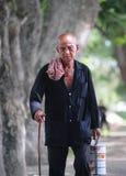 Portrait of Vietnamese old man Stock Photo