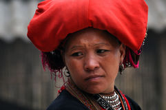 Portrait of a Vietnamese Red Dao woman. Ta Phin, Vietnam Royalty Free Stock Photo