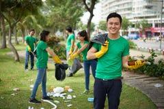 Portrait of Vietnamese volunteer Stock Photography