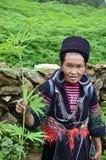 Portrait of a Vietnamese woman. Holding marijuana Stock Photo