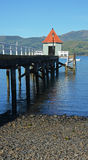 Portrait View of Akaroa Pier, New Zealand Royalty Free Stock Photo