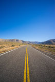 Portrait View of Highway Road Royalty Free Stock Photos