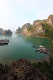 Portrait view from outside Sung Sot Cave. In UNESCO World Heritage Site, Ha Long Bay stock images