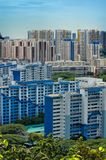Portrait View Of Singapore Housing Estate Royalty Free Stock Photo