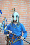Portrait of a viking in helmet Stock Photography