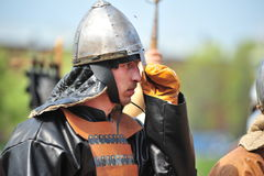 Portrait of a viking in helmet Royalty Free Stock Photos