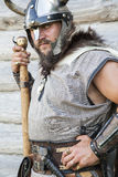 The portrait of the Viking with his ax Stock Images