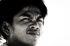 Portrait of a village man from Kuching, Malaysia stock image