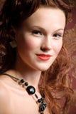 Portrait of vintage woman Stock Photos