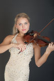 Portrait of the violinist Royalty Free Stock Photo