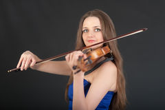 Portrait of violinist Stock Photography