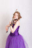 Portrait of a violinist Stock Photo