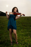 Portrait of violinist Royalty Free Stock Images